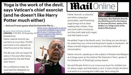Fr Gabriel Amorth 25-11-2011 - Yoga devil practice