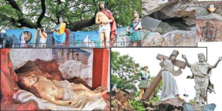 சின்னமலை, சைதாபேட்டை மேலே உள்ள இக்கால சிற்பங்கள்