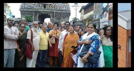 Chira Madhavan in front of Kapali temple
